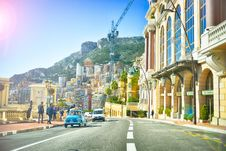 Free Street In Monaco With Cars Stock Photography - 98460772