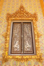 Free Traditional Thai Style Buddhist Church Window Stock Photography - 9852012
