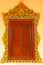 Free Traditional Thai Style Church Window Stock Photo - 9857880