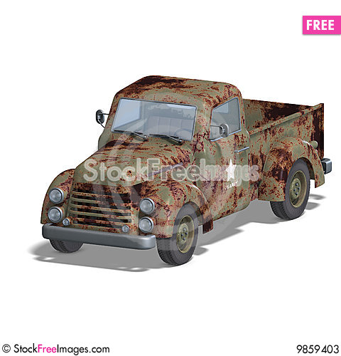 Free Old Fashioned Pickup Car Stock Photos - 9859403
