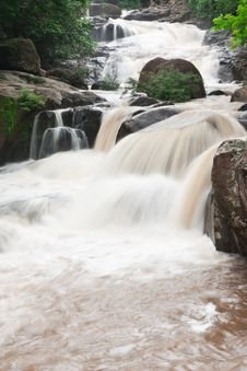 Free Waterfall Tropical Forest Of Thailand Royalty Free Stock Image - 9850106