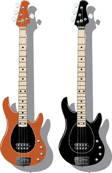 Free Vector Series. Electric Bass Stock Image - 9850321