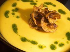Free Yellow Soup Cream Stock Photo - 9850580