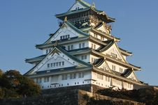 Free Osaka Castle In Autumn Royalty Free Stock Photos - 9850988