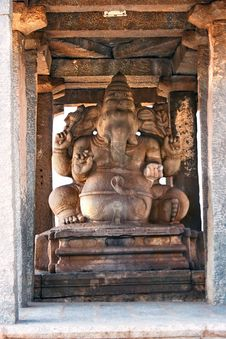 Stone Carved Sculpture Of Elephant God Ganesha