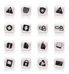 Free Simple Web Site And Computer Icons Stock Images - 9851844