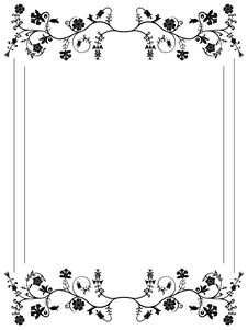 Free Floral Frame Royalty Free Stock Photo - 9852905