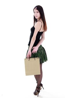 Free Young Woman Shopping Royalty Free Stock Photography - 9852907