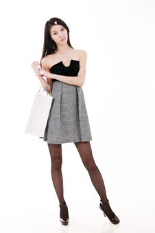 Free Young Woman Shopping Stock Photo - 9852990