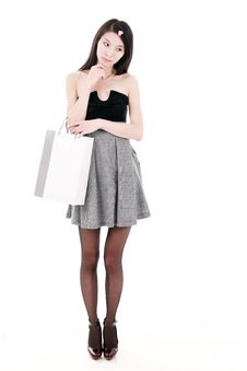 Free Young Woman Shopping Stock Photo - 9853050