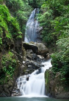 Free Waterfall Tropical Forest Of Thailand Royalty Free Stock Photography - 9853357