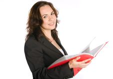 Free Businesswoman With Folder Stock Images - 9853404