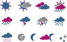 Free Weather Icon Set Stock Image - 9853651