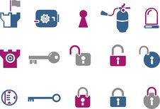 Free Security Icon Set Stock Photography - 9853772