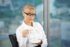 Free Morning Coffee At Office Stock Image - 9853961