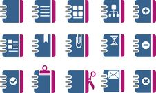 Free Document Icon Set Stock Photos - 9854073
