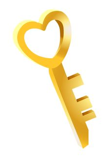 Free Key To The Heart Royalty Free Stock Photos - 9854398