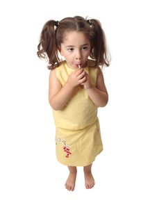 Free Girl Sucking On A Lollipop Candy Royalty Free Stock Image - 9855096