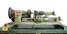 Free Зortable Lathe On Green Board Isolated Stock Photos - 9855123