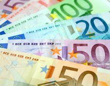 Free Euro Background Royalty Free Stock Photography - 9855767