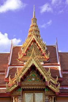 Free Thai Style Architecture Royalty Free Stock Photography - 9855887