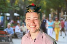 Free Man Pretending To Be Chinese Royalty Free Stock Photos - 9856028
