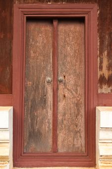 Free Very Old Wood Door Stock Photos - 9856073