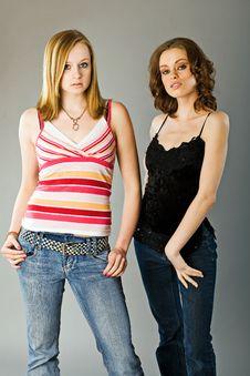 Free Sisters Fashion Pose Stock Photos - 9856133