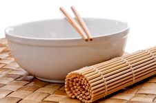 Free A Pair Of Chopsticks On A White Bowl Stock Photos - 9856243