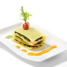 Free Salmon Lasagna Stock Images - 9856354