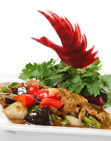 Free Chinese - Meat With Black Fungus Royalty Free Stock Images - 9856429