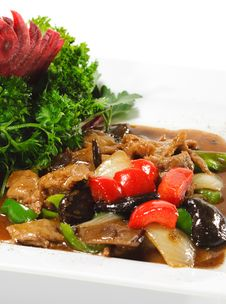 Chinese - Meat With Black Fungus Royalty Free Stock Image