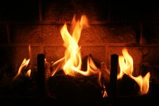 Free Warm Fire Stock Image - 9856771