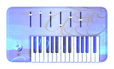 Free Psychedelic Retro Keyboard Royalty Free Stock Image - 9857136