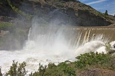 Enlow Dam Waterfall Stock Photography