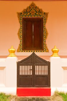 Free Traditional Thai Style Church Window Stock Photos - 9857833