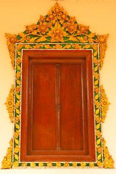 Free Traditional Thai Style Church Window Stock Photo - 9857880