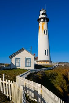 Free Pigeon Point Lighthouse Royalty Free Stock Photos - 9857928