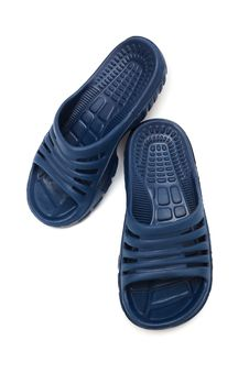 Free Blue Rubber Sandal Royalty Free Stock Photography - 9858507