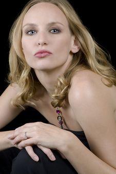 Blonde Female Model Royalty Free Stock Photo