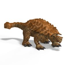 Free Strange Dinosaur Ankylosaurus With Clipping Path Royalty Free Stock Image - 9859366