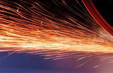 Free Bright Orange Sparks Stock Image - 98536961