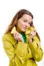 Free Woman In Yellow Raincoat Royalty Free Stock Photo - 9866175