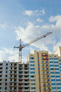 Free Tower Crane On The Construction Site Royalty Free Stock Images - 9866409
