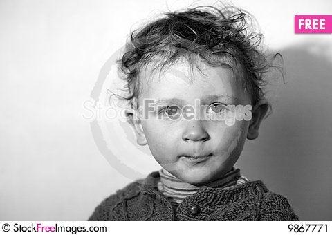Assuming airs little boy Stock Photo