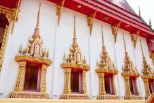 Free Traditional Thai Style Buddhist Church Window Royalty Free Stock Image - 9860266