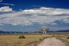 VLA Of Radio Telescopes Stock Photo
