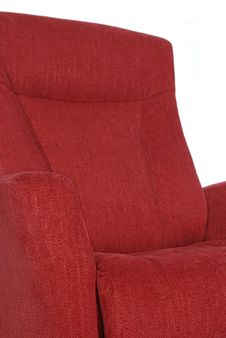 Detail Of Red Recliner Royalty Free Stock Photos