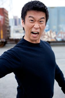 Free Funny Asian Karate Man Stock Images - 9860614