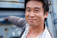 Free Interestng Asian Man Stock Photo - 9860750